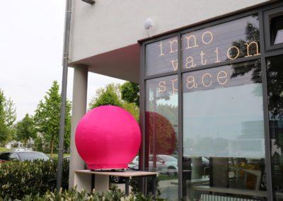 Der neue Innovation Space, ein Kreativlabor an der HNU.
