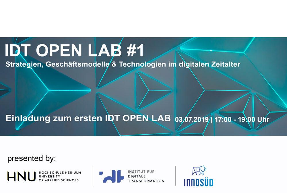 IDT Open Lab – Strategien, Geschäftsmodelle und Technologien im digitalen Zeitalter, 3. Juli 2019
