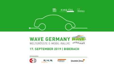 17. September: E-Rallye WAVE Germany macht Station in Biberach