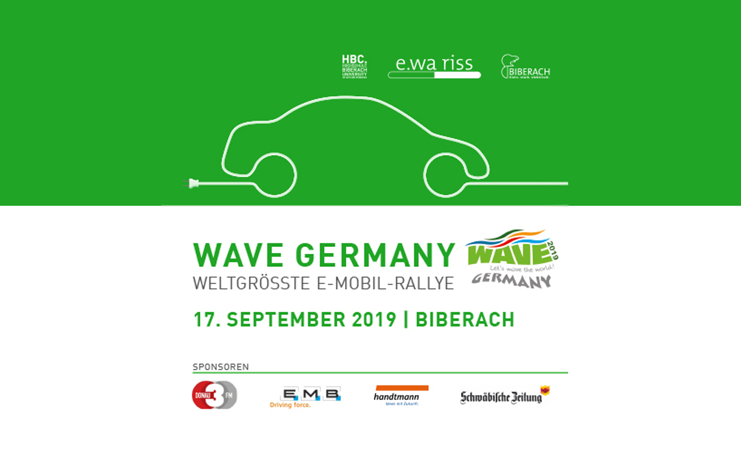 17. September: E-Rallye WAVE Germany macht Station in Biberach