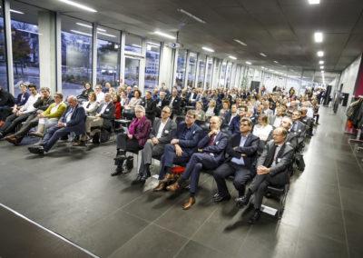 Blick ins Publikum in der Mensa der Hochschule Neu-Ulm