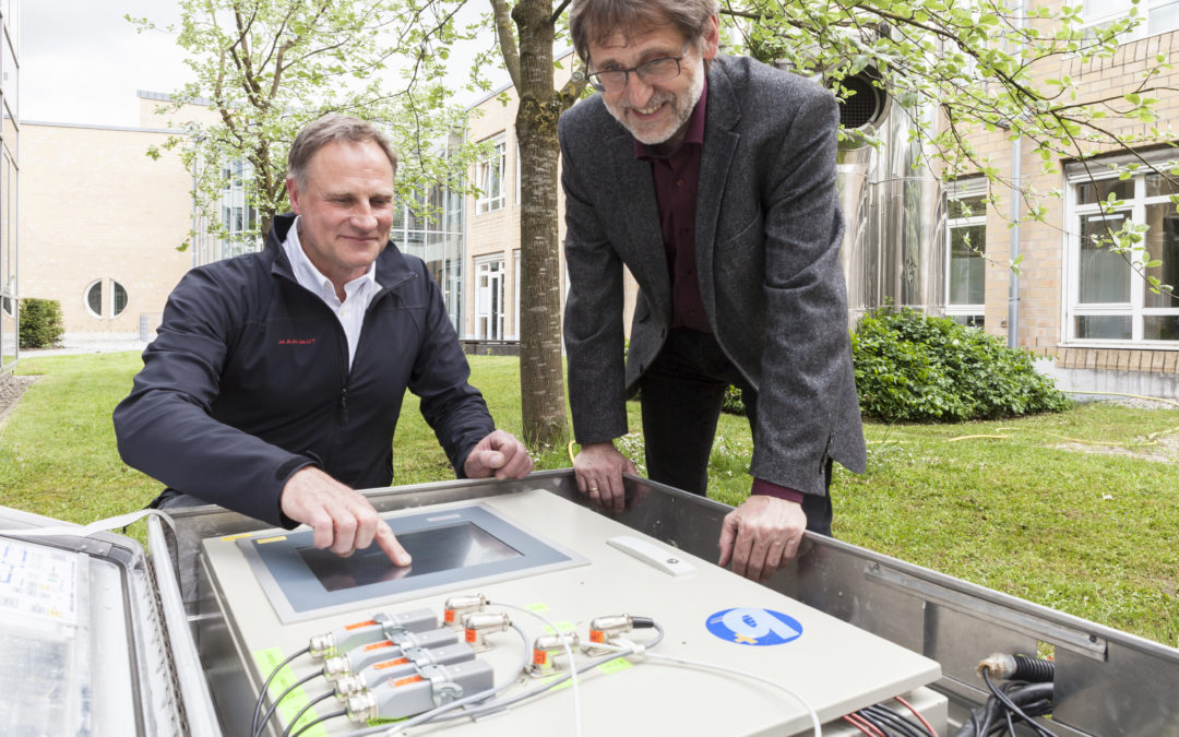 Tiefenbohrung zur Erforschung von Geothermie an der Hochschule Biberach.