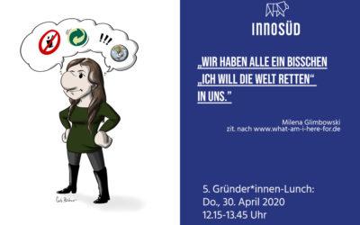 """5. Gründer*innen-Lunch """"Leadership in Krisenzeiten"""" – Virtuelles Treffen für gründungsinteressierte Forschende der Uni Ulm"""