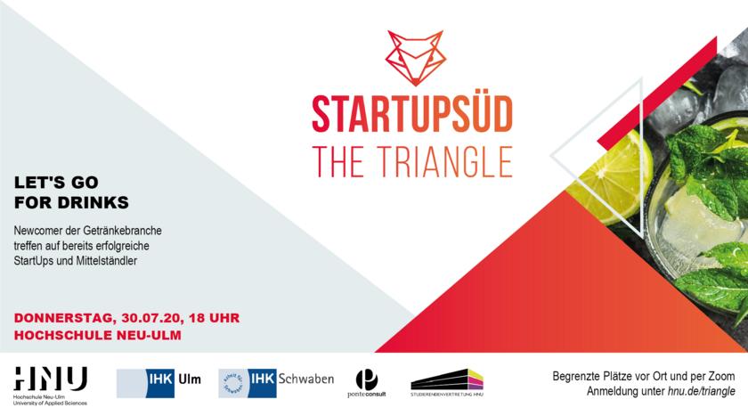 Tipp aus dem Verbund: THE TRIANGLE – Neues Start-up-Event im Rahmen von StartupSÜD am 30. Juli 2020