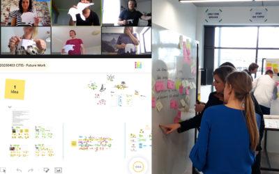 """Innovationszirkel zu """"Future Work"""": Corona-bedingter Selbstversuch zur virtuellen unternehmensübergreifenden Zusammenarbeit"""