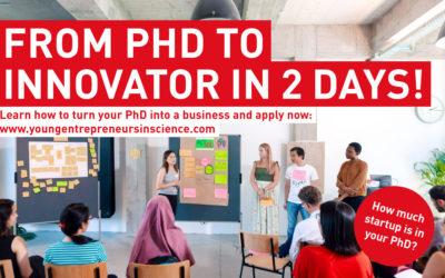 Young Entrepreneurs in Science: 2-tägiger Online-Workshop für gründungsinteressierte Forschende aus Ulm und der Region