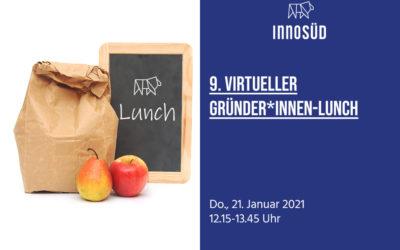 21. Januar 2021 | Einladung zum 9. InnoSÜD Gründer*innen-Lunch: StartupSÜD stellt sich vor