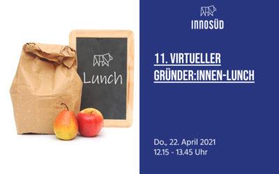 22. April 2021 | 11. InnoSÜD-Gründer:innen-Lunch mit Melanie Kamrath und Pia Beyer-Wunsch: Die passende Förderung für Dein Start-up!