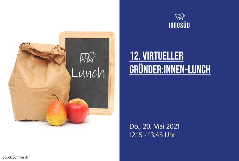20.05.2021 | 12. InnoSÜD-Gründer:innen-Lunch mit Dr. Bernhard Wieland: Meet your Role Model!