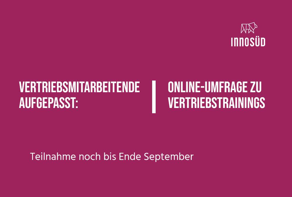 Online-Umfrage zum Thema Vertriebstrainings: Teilnahme noch bis Ende September