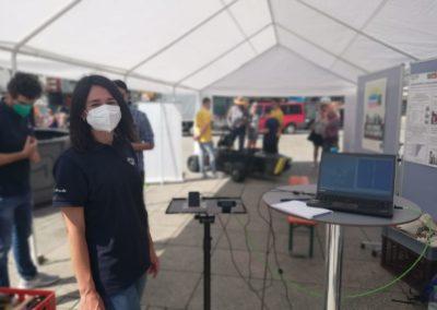 """Das Teilprojekt """"Weltlabor"""" zeigte, wie Radarsignaturen von Verkehrsteilnehmern gemessen werden. Bildquelle: InnoSÜD/ D.Barsch"""
