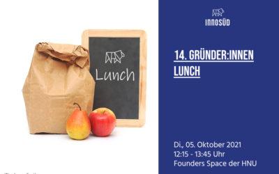05. Oktober 2021 | 14. InnoSÜD Gründer:innen-Lunch mit Andreas Torka: Nachhaltigkeit und neue Technologien