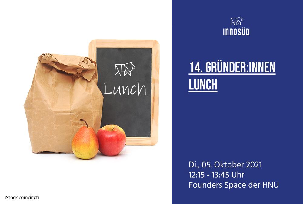 05. Oktober 2021   14. InnoSÜD Gründer:innen-Lunch mit Andreas Torka: Nachhaltigkeit und neue Technologien