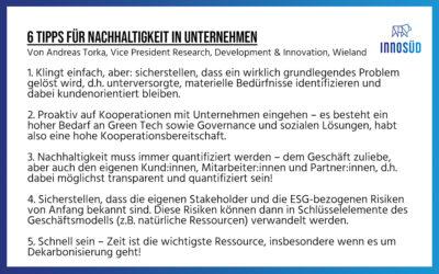 """Rückblick: 14. Gründer:innen-Lunch zum Thema """"Nachhaltigkeit und neue Technologien"""""""