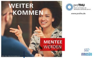 proTHU-Mentoring: Bewerbung für die nächste Runde bis 15. November 2021 | Offen für Studierende aller InnoSÜD-Hochschulen mit abgeschlossenem Grundstudium